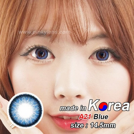 A21 BLUE colored contacts