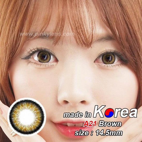 A21 BROWN colored contacts