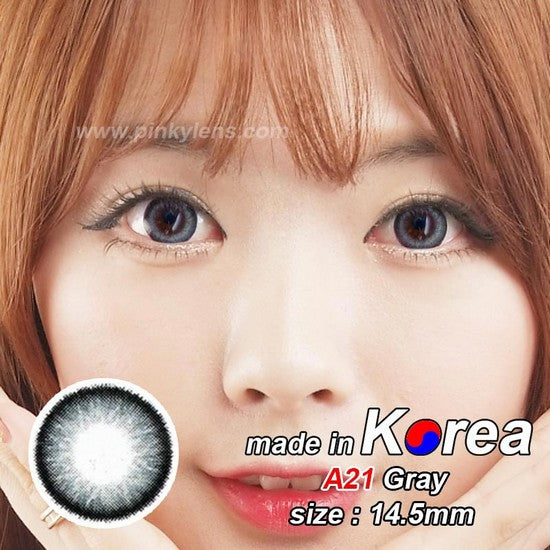A21 GREY colored contacts