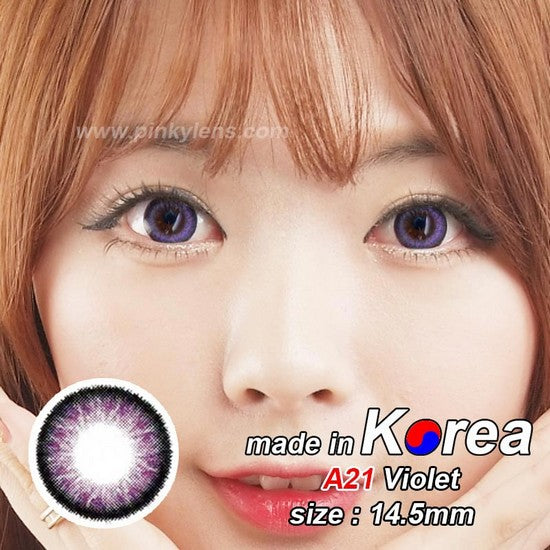 A21 PURPLE colored contacts
