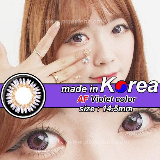 AF PURPLE colored contacts