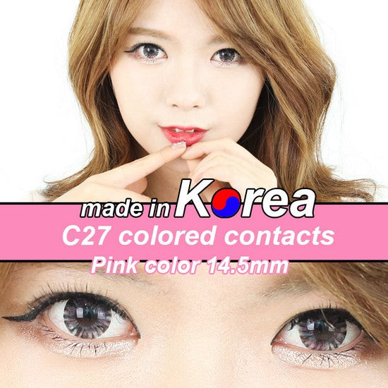 C27 PINK colored contacts