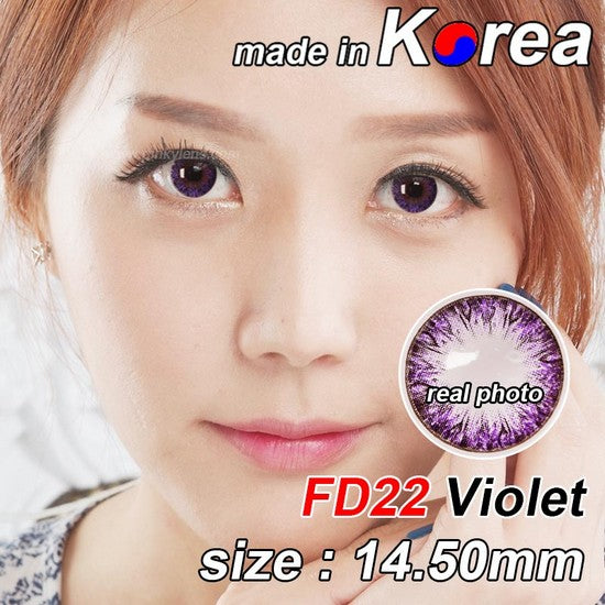 FD22 PURPLE colored contacts