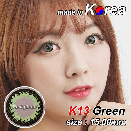 K13 GREEN colored contacts