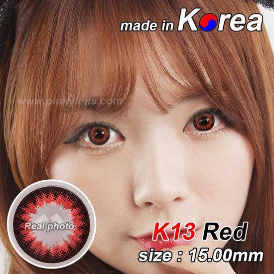 K13 RED colored contacts