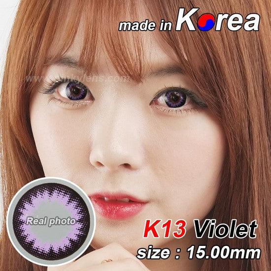 K13 PURPLE colored contacts