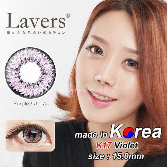 K17 PURPLE colored contacts