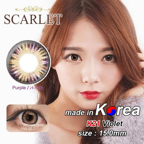 K21 PURPLE colored contacts