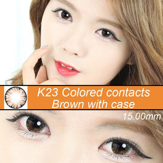 K23 BROWN colored contacts