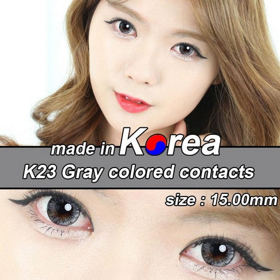 K23 GREY colored contacts