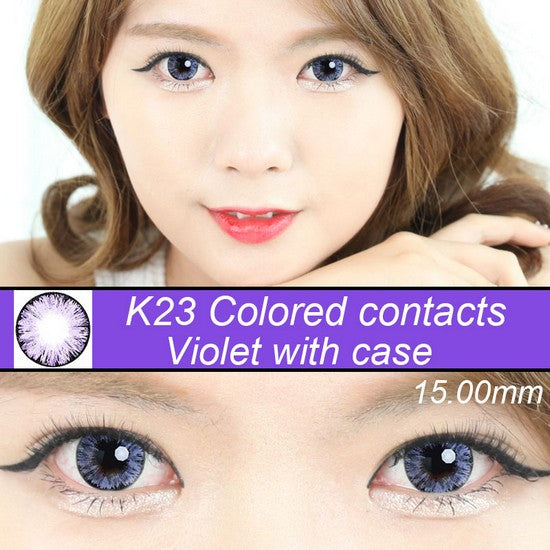 K23 PURPLE colored contacts