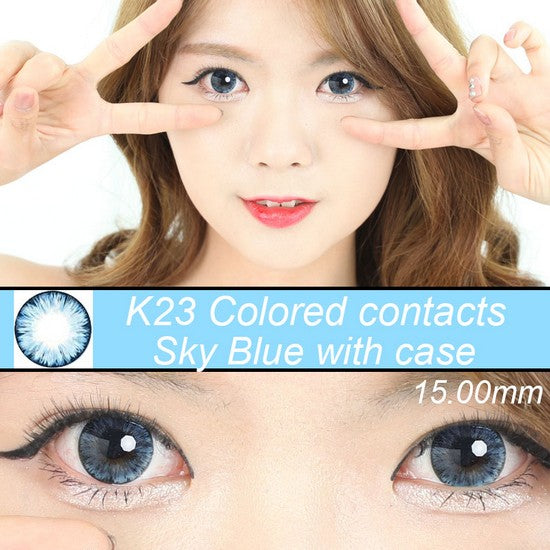 K23 BLUE colored contacts