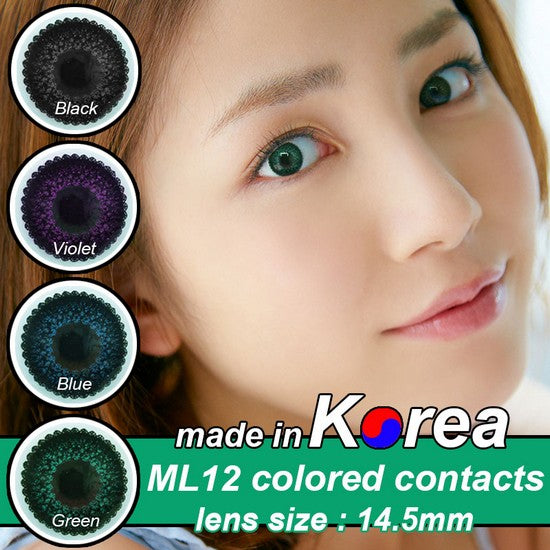ML12 GREEN colored contacts