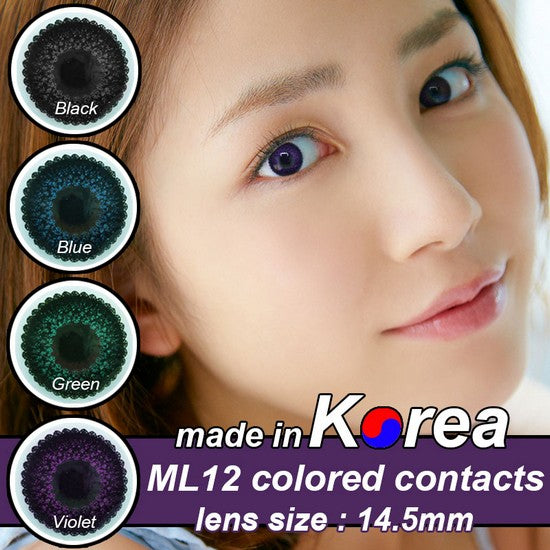 ML12 PURPLE colored contacts