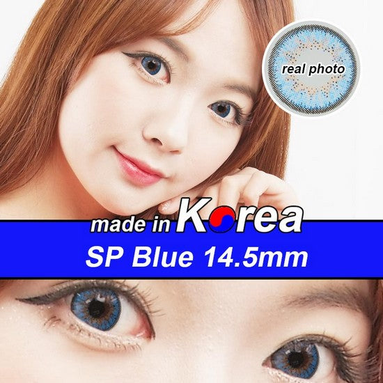 SP BLUE colored contacts