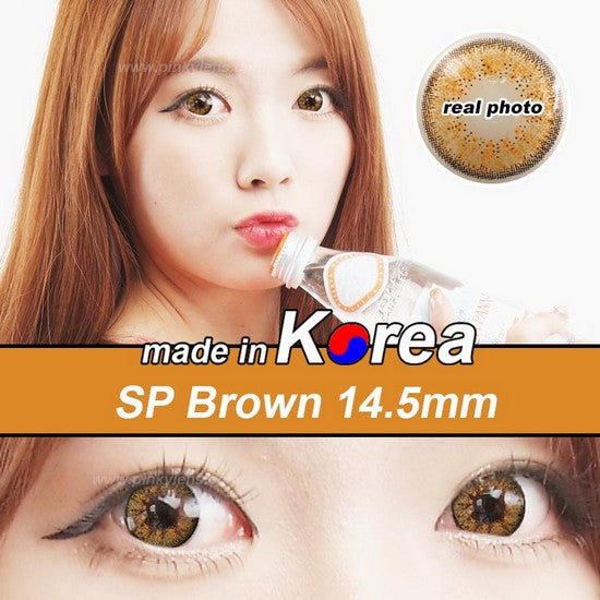 SP BROWN colored contacts
