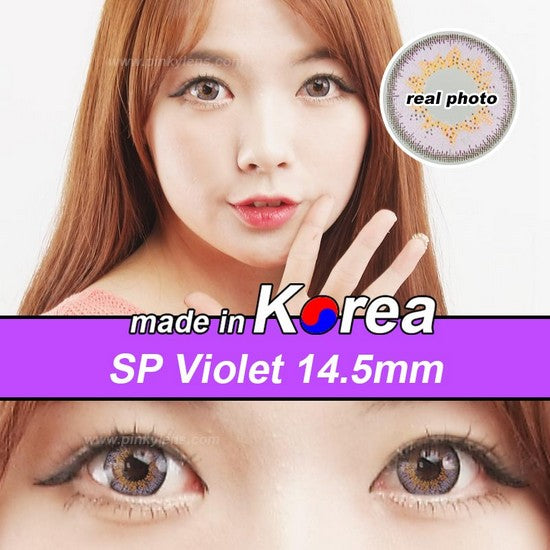 SP PURPLE colored contacts