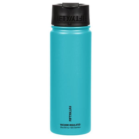 20oz Insulated Water Bottle w/ Flip Cap - Aqua