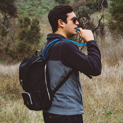 Image of water bladder hiking backpack
