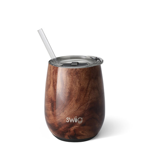 Image of Swig 14oz Stemless Wine Cup - Walnut