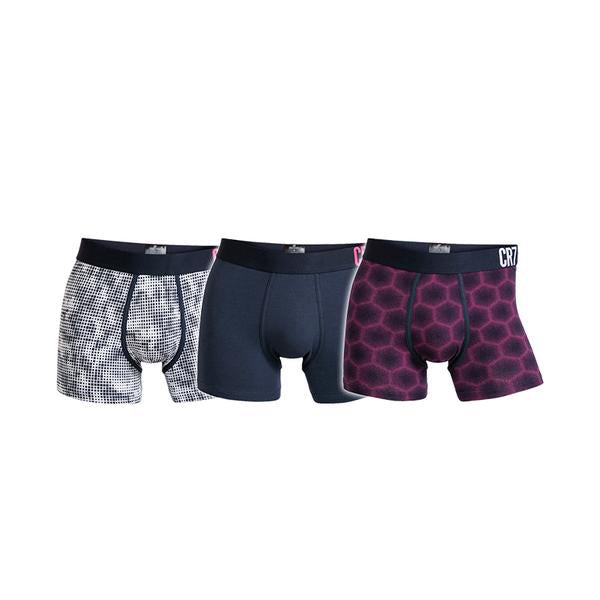 Fashion Trunks 3 packs Mixed colors Purple/Grey/Dark blue