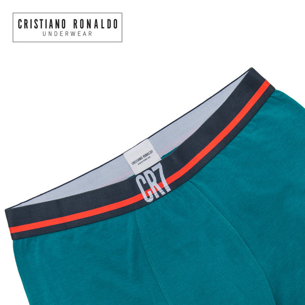 Fashion Trunks Cotton stretch in Green/ Black n Red Waistband
