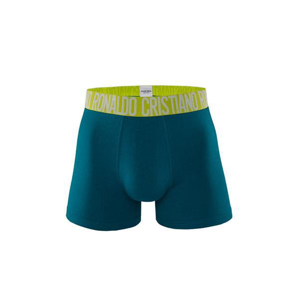 Fashion Trunks Cotton stretch in Mixed Green