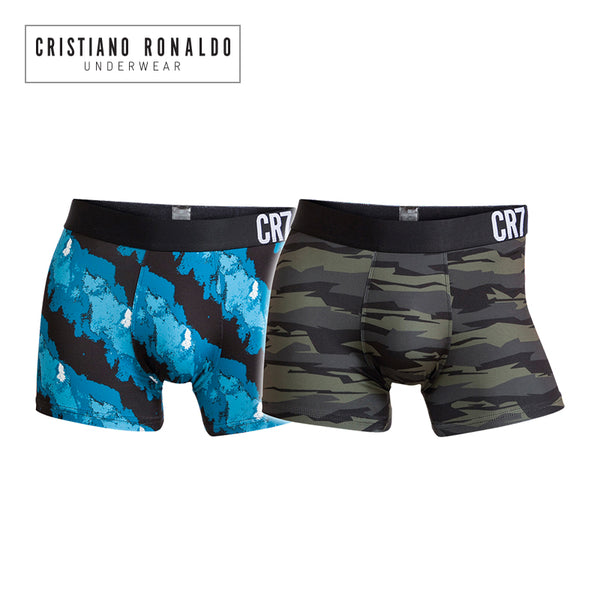 Fashion Trunks 2-Pack Mixed color Light Blue pattern/Dark Grey pattern