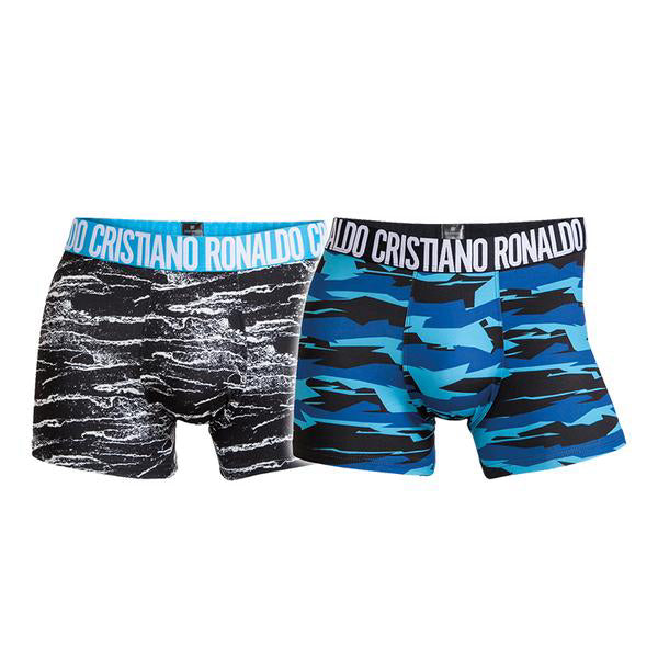 Fashion Trunks 2-Pack Mixed Blue Colors