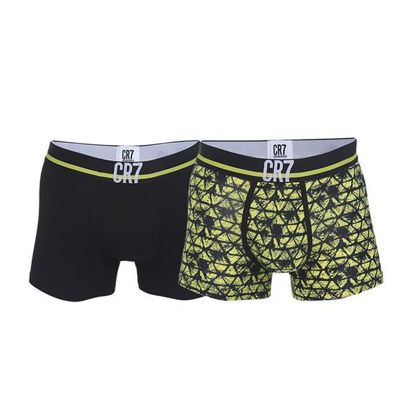 Fashion Trunks 2-pack Black and Yellow Patterns