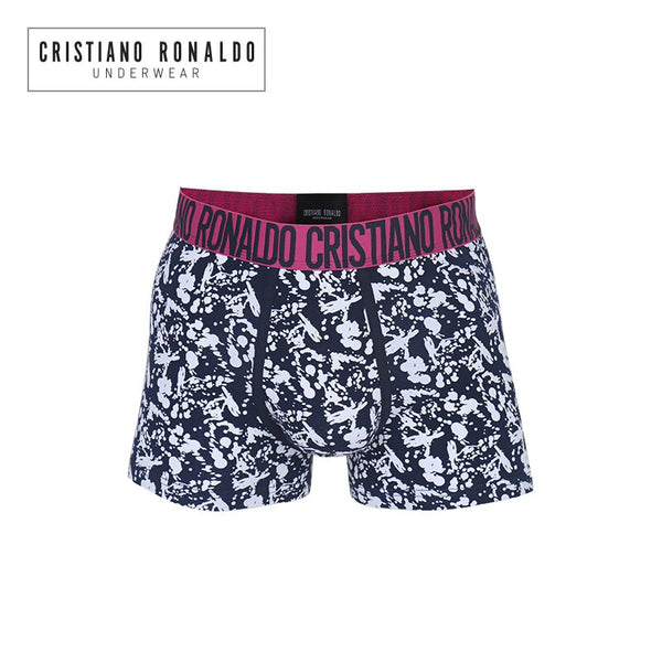 Fashion Trunks Black and White Pattern with Wonderful Pink Waistband