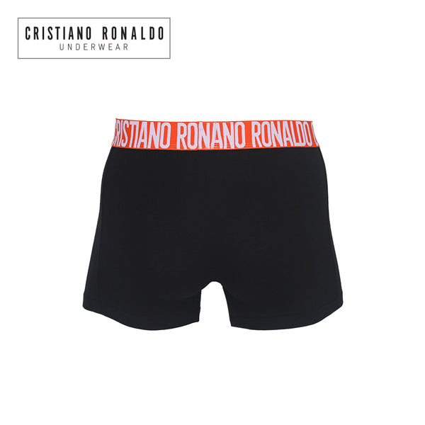 Basic Trunks Black with Red Pastel Waistband