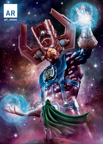 Galactus vs Doctor Doom