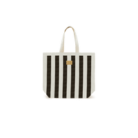 Beach Bag Stripe Noir
