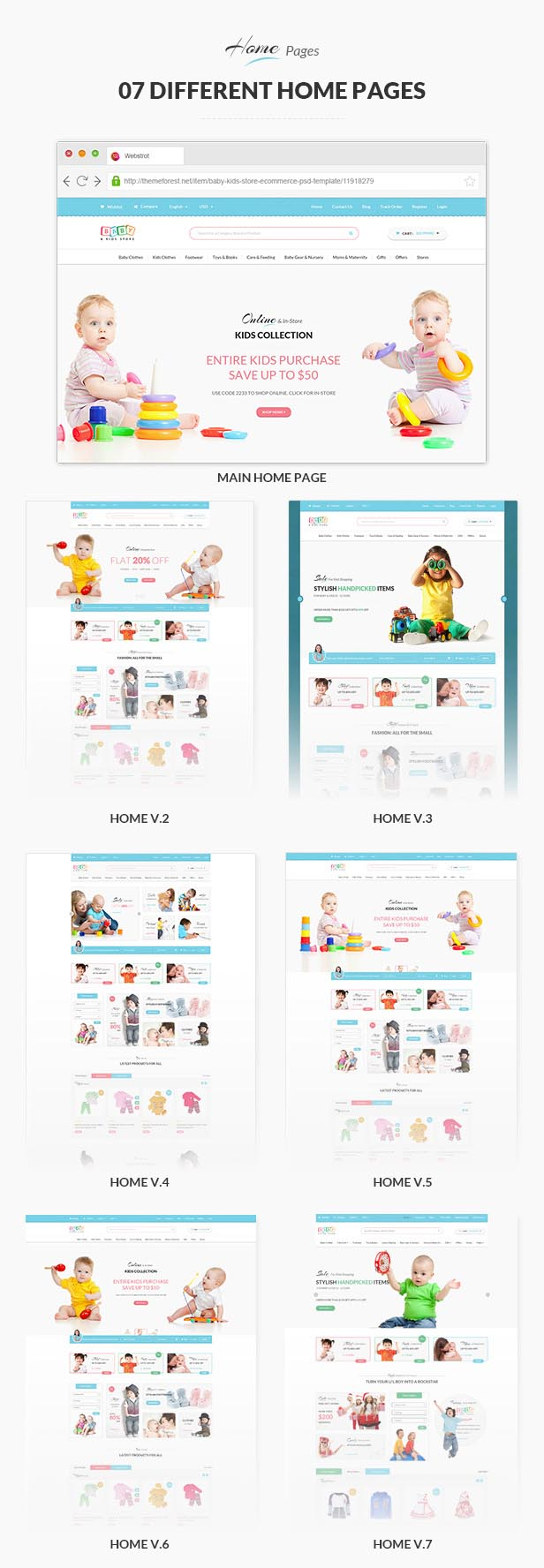 Baby Store - Clean, responsive Shopify themes - 2