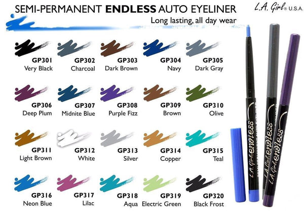 LA Girl Eyeliner GP301 Very Black L.A Girl Endless Auto Eyeliner