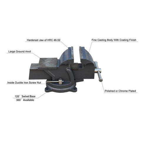 "HPS-100 4"" Ductile Iron Heavy Duty Bench Vise"