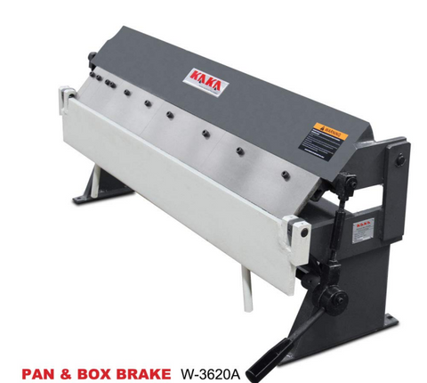 "KAKA Industrial 36"" 20 Gauge PAN & BOX BRAKE W1.0X915A / W-3620A"