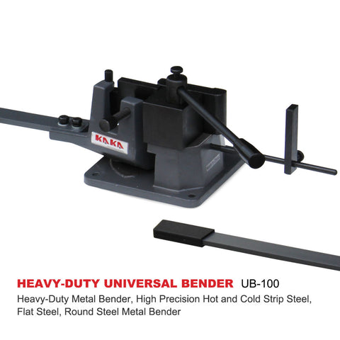 KAKA UB100 Universal Bender, High Capacity Cast-Iron Hot & Cold Metal Bar Bender