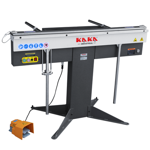 "kaka EB-5216 Manual Magnetic Sheet Metal Box and Pan Brake, 52"" Length ,1-Phase 220V, 16-Gauge Mild Steel Capacity."