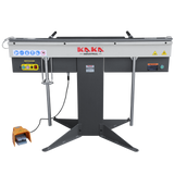 "EB-5216 Manual Magnetic Sheet Metal Box and Pan Brake, 52"" Length ,1-Phase 220V, 16-Gauge Mild Steel Capacity."