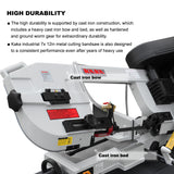 KAKA Industrial 7x12 Inch Metal Cutting Bandsaw BS-712N . 115V&230V/60HZ/1PH,Prewired 230V.