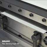 KAKA INDUSTRIAL 3-In-1/200 8 Inch 20 Gauge Sheet Metal Brake, Shear and Roll Combination