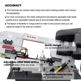 KAKA Industrial 7x12 Inch Metal Cutting Bandsaw BS-712N . 115V&230V/60HZ/1PH,Prewired 115V.