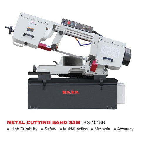 "KAKA Industrial BS-1018B 10"" Metal Cutting Band Saw Machine. 220V-60HZ-1PH"