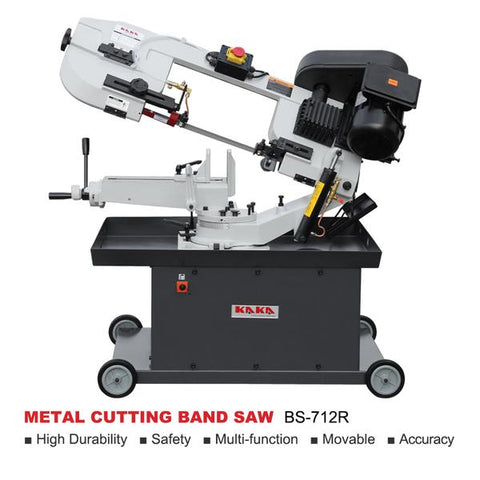 "KAKA indsutrial BS-712R 7"" Metal Cutting Band Saw Machinery, 115V&230V/60HZ/1PH,Prewired 230V"