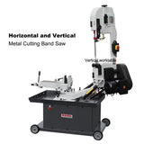 "KAKA Indsutrial BS-712R 7"" Metal Cutting Band Saw Machinery, 115V&230V/60HZ/1PH,Prewired 115V ."
