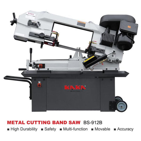 "Free Shipping!!! KAKA Industrial BS-912B 9"" METAL CUTTING BAND SAW .115V&230V/60HZ/1PH,Prewired 230V .CE MARK approved only"