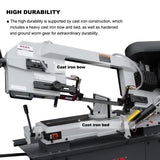 "FREE SHIPPING!!! KAKA Industrial BS-912B 9"" METAL CUTTING BAND SAW .115V&230V/60HZ/1PH,Prewired 230V ."