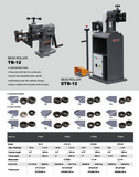 ETB-12 Electric Bead Bending Machine, Sheet Metal Beading Machine.115V-60HZ-1PH .